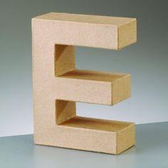 Lettre E en carton hauteur 10 cm | Femme2Deco