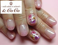 キュートボーダーネイル♡ の画像 -nail salon * school-& CoCoブログ