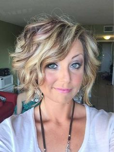 12.Trendy Short Hairstyles ... Love this wavy Inverted / Graduated Bob ... consider undercutting the back to soften transition at the neck