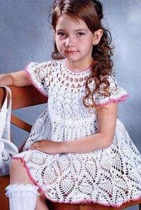 White crocheted dress