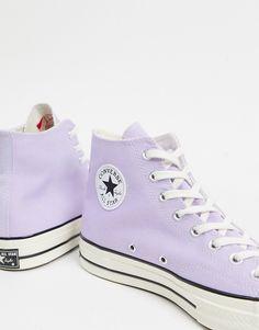 Converse All Star, Cute Converse, Purple Converse, Purple Sneakers, Cute Sneakers, Outfits With Converse, Purple Shoes, Converse Shoes, Cool Converse High Tops