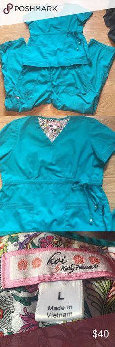 Koi scrubs sz L Cute turquoise Koi scrubs sz L.  Great condition!!!!! koi Other