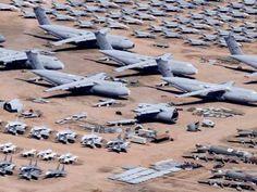 Mothballed US Military Aircraft.