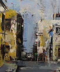 Imagem relacionada Landscape Artwork, Urban Landscape, Watercolor Architecture, Architecture Art, Traditional Paintings, Contemporary Paintings, A Level Art, Environmental Art, Urban Art