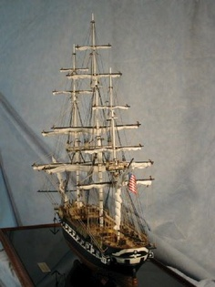 USF Constellation scale model ship