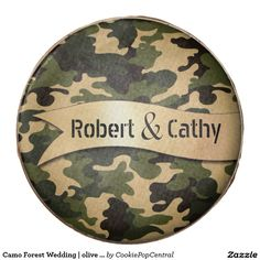 Camo Forest Wedding   olive tan Chocolate Dipped Oreo