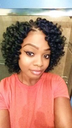 70 Crochet Braids Hairstyles Crochet braids have become a huge trend in the past few years. Take a look at these 70 inspiring and super trendy crochet braids hairstyles! Curly Crochet Hair Styles, Crochet Braid Styles, Curly Hair Styles, Natural Hair Styles, Natural Braids, Braided Hairstyles Updo, African Hairstyles, Hairdos, Crocheted Hairstyles