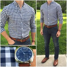 Mens Fashion Smart – The World of Mens Fashion Big Men Fashion, Fashion Outfits, Fashion Fashion, Fashion Tips, Stylish Men, Men Casual, Herren Outfit, Business Casual Outfits, Denim Outfit