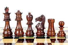 House of Chess  Rosewood Galaxy Staunton Wooden Chess Set Pieces King size 3 Triple Weighted >>> See this great product.