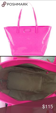 Neon pink Kate Spade Purse Brand new neon pink Kate spade purse! Only worn once! Just not my style/color! kate spade Bags Totes