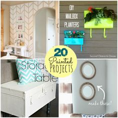 Great Ideas -- 20 Painted Projects! -- Tatertots and Jello