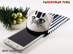 Handyhülle Katze Stoff Stoff Telefon Stoffbezug von ArmayDesign