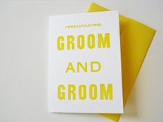 gay weddings, great wedding invitation. I can tell this wedding is going to be Fabulous!  www.celebrationsbykat.com