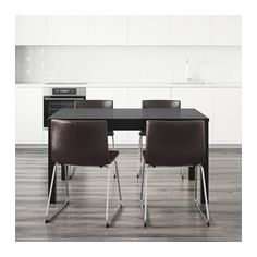 "BJURSTA / BERNHARD Table and 4 chairs  - IKEA -- Length: 70 7/8 "" Min. length: 55 1/8 "" Max. length: 86 5/8 "" Width: 33 1/8 "" Height: 29 1/8 """