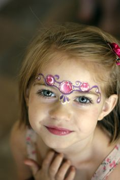 princess crown face painting design idea