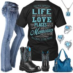 Best Things In Life Blue Hobo Purse Outfit - Real Country Ladies