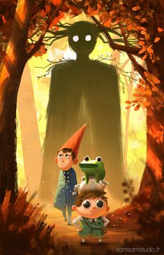 Samuel smith art - visual development for animation - over the garden wall. Garden Wall Art, Over The Garden Wall, Pretty Drawings, Arte Horror, Animation, Fan Art, Visual Development, Art Abstrait, Illustrations And Posters