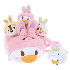 2015 Easter Tsum Tsum Bag Set with Donald, Daisy, Chip, and Dale