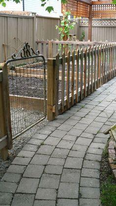 love this vege garden fence idea