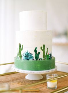 Planning For A Baby Shower Cool Wedding Cakes, Wedding Cake Designs, Cupcakes, Cupcake Cakes, Pretty Cakes, Beautiful Cakes, Cactus Cake, Painted Cakes, Wedding Cake Inspiration
