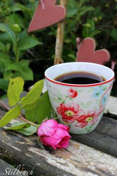 Hope of just such a Spring day, ladies...so coffee by the roses is possible!