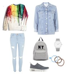 """""""Untitled #28"""" by ecememir on Polyvore featuring River Island, NIKE, Topshop, Joshua's, Larsson & Jennings, women's clothing, women, female, woman and misses"""