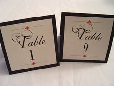 Elegant+Table+Numbers++Smooth+Tented+by+designedbyelisabeth,+$0.80