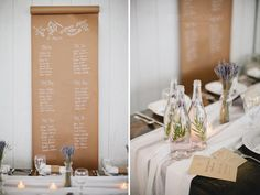 This is such a great idea for table plans for an outdoor wedding, a roll of brown paper from the post office... 532302_10151422370677881_1348556987_n.jpg (800×600)