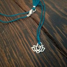 Lotus Wish Necklace - 925 Sterling Silver & Your Choice of Silk Color by CatMHorn on Etsy