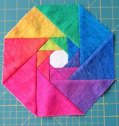 Rainbow coaster - Geta's Quilting Studio