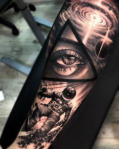 Matias Noble's black and grey realistic tattoo- Tattoo artist Matias Noble, blac. - Matias Noble's black and grey realistic tattoo- Tattoo artist Matias Noble, black&grey portrait r - Space Tattoo Sleeve, Leg Sleeve Tattoo, Best Sleeve Tattoos, Tattoo Sleeve Designs, Tattoo Designs Men, Realistic Tattoo Sleeve, Galaxy Tattoo Sleeve, Best Leg Tattoos, Skull Sleeve Tattoos