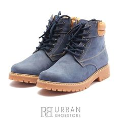 Ghete casual din piele naturala nabuc Leofex- 227 blue Timberland Boots, Hiking Boots, Casual, Shoes, Fashion, Boots, Moda, Zapatos, Shoes Outlet