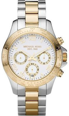Best Buy Michael Kors Chronograph Two Tone Stainless Steel White Dial Womens Bracelet... at http://get.nazuka.net/review/product.php?asin=B00506S8A8