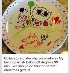 Homemade plate decorations