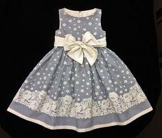Vestido Tricoline Barrado- 4 anos (4 years ) ----------------- À venda em (For…
