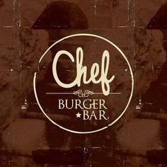 Chef Burger Bar by Masif , via Behance Restaurant Names, Burger Restaurant, Restaurant Design, Ideas Para Logos, Shop Name Ideas, Bagel Bar, British Restaurants, Chef Logo, Pizza Logo