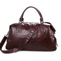 Leather Family — Genuine Vintage Leather Unisex Coffee-Brown Handbag Tote Travel Bag Messenger--FREE SHIPPING