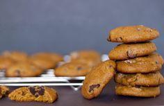 Galletas de Calabaza con Chispas de Chocolate #receta #galletas #pumpkinchocolatechipcookies