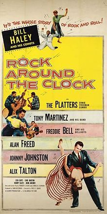 Rock Around the Clock. Bill Haley and His Comets, Alan Freed, The Platters, Freddie Bell and the Bellboys. Directed by Fred F. Concert Posters, Film Posters, Vintage Movies, Vintage Posters, Tony Martinez, Alan Freed, 50s Rock And Roll, Bill Haley, Heavy Metal