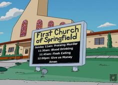"What's the best thing about the progressive messages on ""The Simpsons""? The fact that it's aired by FOX."