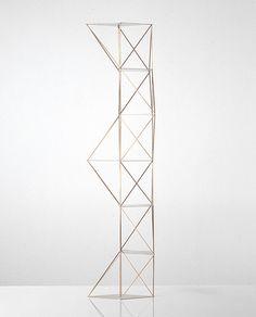 Michele Reginaldi - Morphologies of Verticality - 1988 Abstract Geometric Art, Geometric Designs, Geometric Shapes, Space Frame, Light Works, Light Installation, Creative Inspiration, Sculpture Art, Creative Design