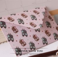 Free shiipping owl paper envelope for wedding gift packaging envelopes vintage airmail envelopes  15.2*10.2cm