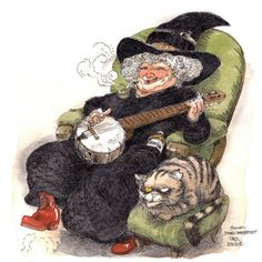 """""""Nanny  Ogg knew how to start spelling 'banana', but didn't know how you stopped."""" Terry Pratchett, Witches Abroad"""