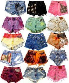 DIY jean shorts one of the looks like underwear...
