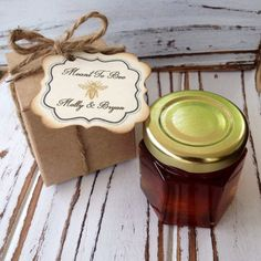 70 Qty Honey Favors with Personalized Tag & Kraft by holyhoney