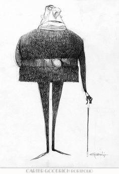Despicable Me: Character Design: Carter Goodrich. Character Design Animation, Character Design References, My Character, Character Concept, Concept Art, Character Development, Book Design Graphique, Illustration Design Graphique, Illustration Simple