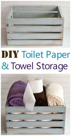 TP and Bath Towel Storage Crate idea