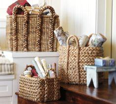 Beachcomber Extra-Large Round Basket | Pottery Barn