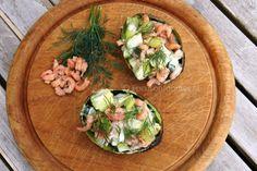 Gevulde avocado met garnalen uit het Voedselzandloper Kookboek