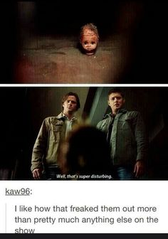 That's the most disturbing thing I've seen on the show throughout all eleven seasons